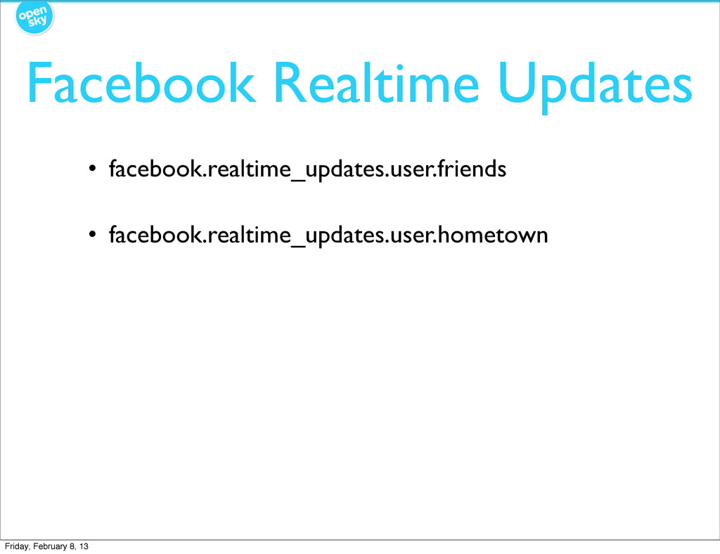 Facebook Realtime Updates • facebook.realtime_u...