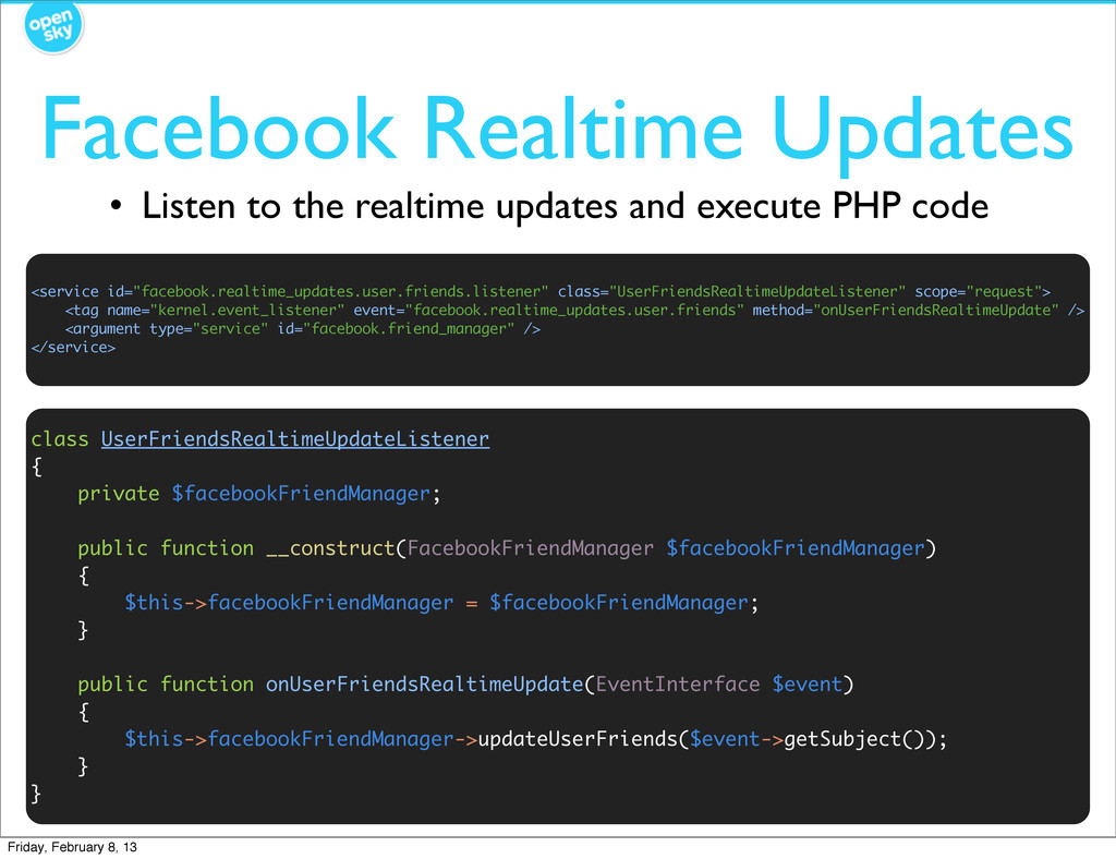 Facebook Realtime Updates • Listen to the realt...