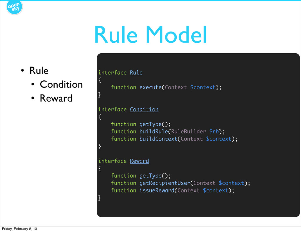 Rule Model • Rule • Condition • Reward interfac...
