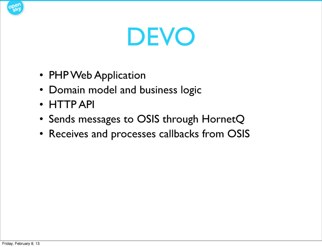 DEVO • PHP Web Application • Domain model and b...