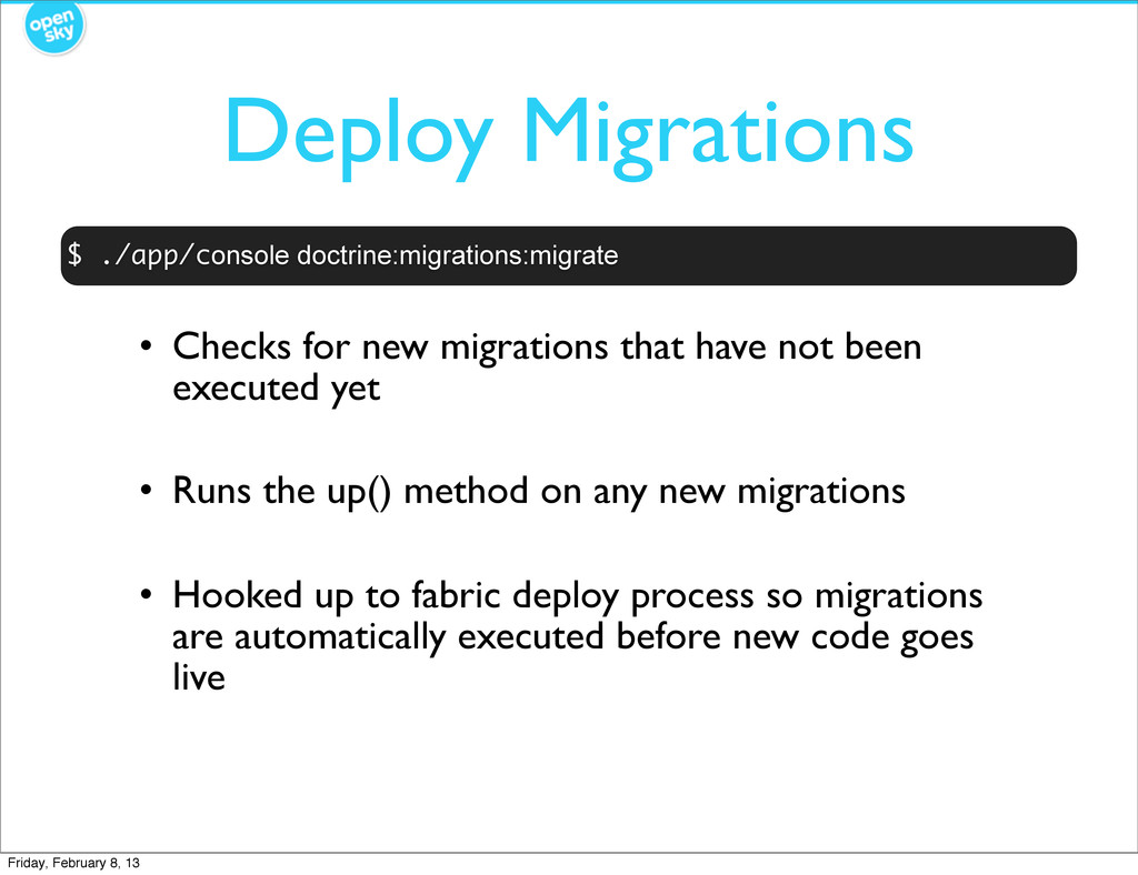 Deploy Migrations • Checks for new migrations t...