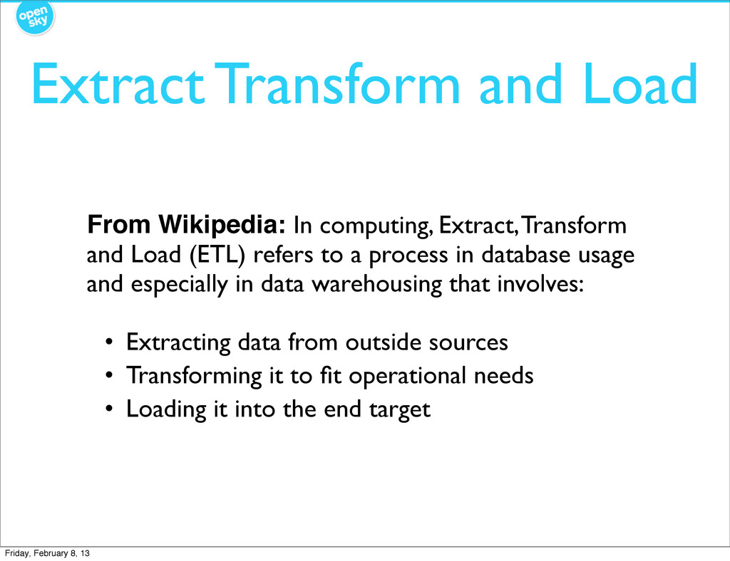 Extract Transform and Load From Wikipedia: In c...