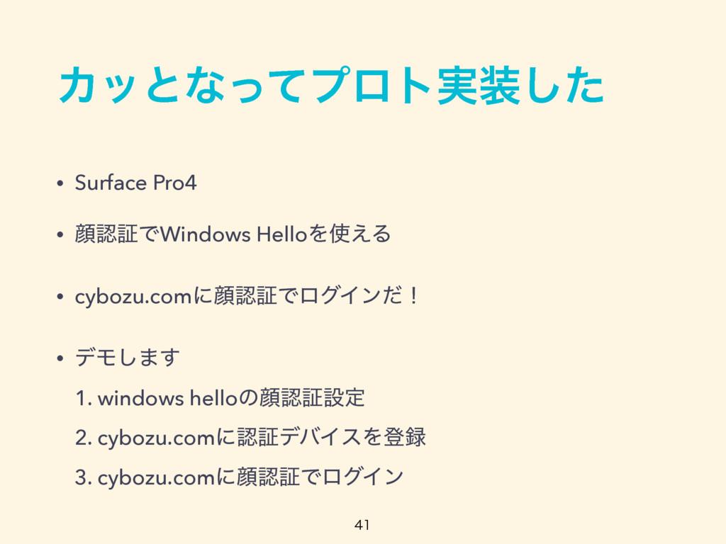 Χοͱͳͬͯϓϩτ࣮ͨ͠ • Surface Pro4 • إূͰWindows Hell...