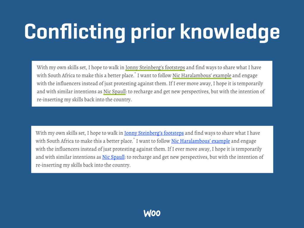 Conflicting prior knowledge
