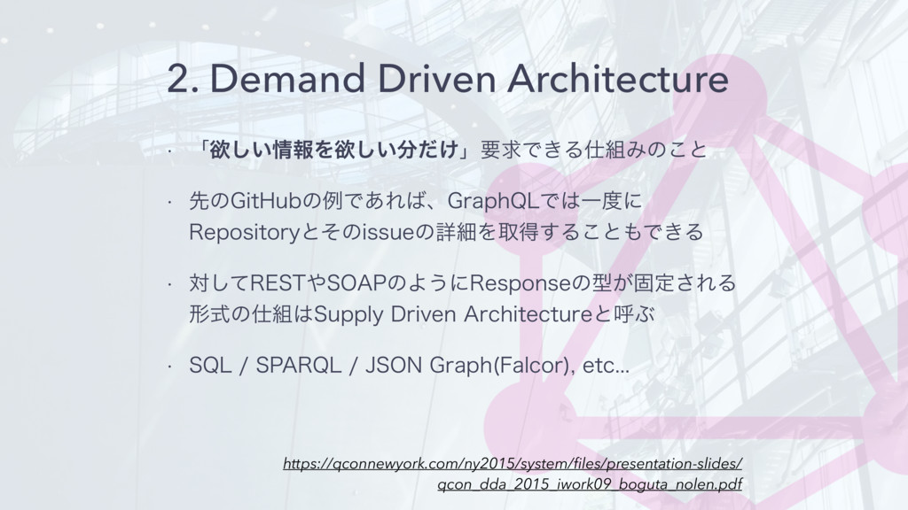 2. Demand Driven Architecture w ʮཉ͍͠ใΛཉ͍͚ͩ͠ʯཁ...