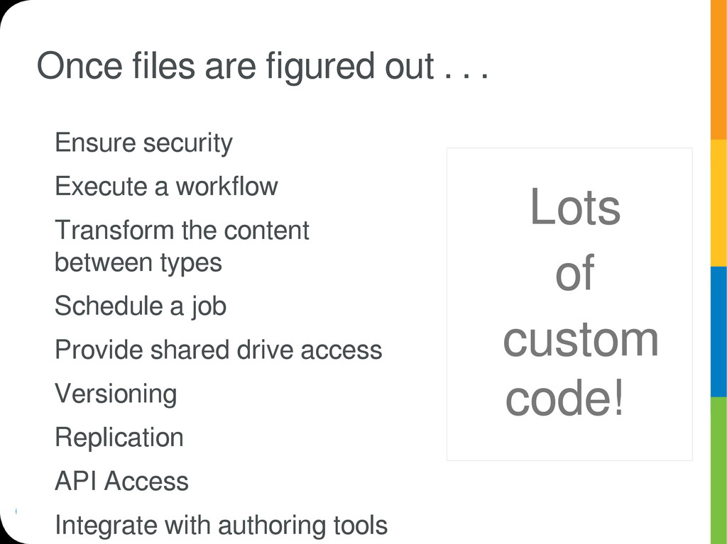 Once files are figured out . . . Ensure securit...