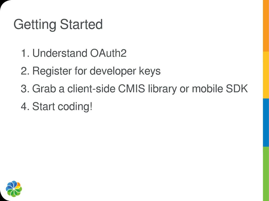 Getting Started 1. Understand OAuth2 2. Registe...