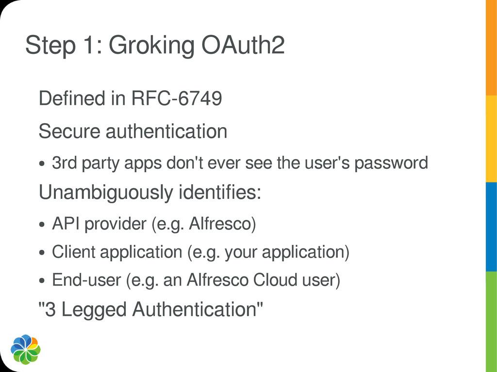Step 1: Groking OAuth2 Defined in RFC-6749 Secu...