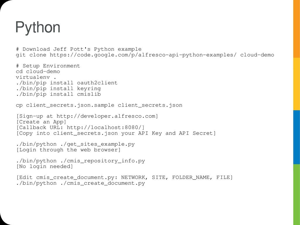 Python # Download Jeff Pott's Python example gi...