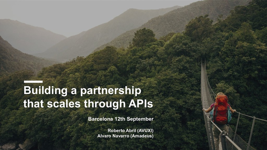 Building a partnership that scales through APIs...