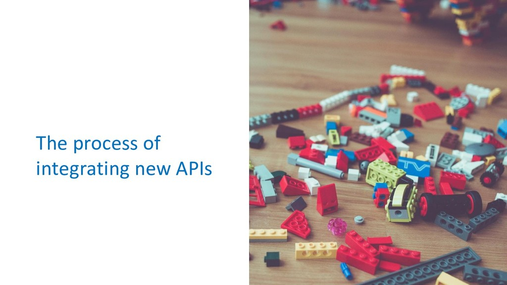 The process of integrating new APIs
