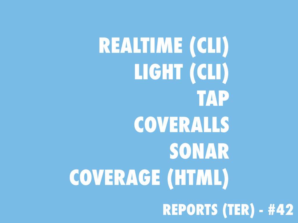 REPORTS (TER) - #42 REALTIME (CLI) LIGHT (CLI) ...