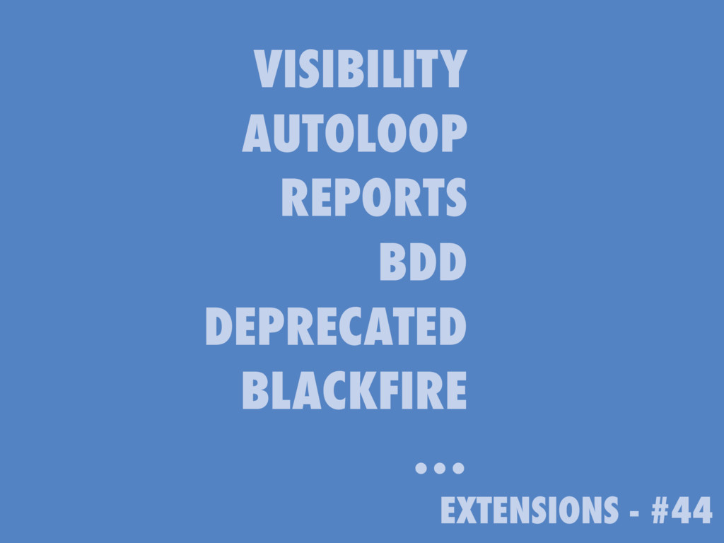 EXTENSIONS - #44 VISIBILITY AUTOLOOP REPORTS BD...