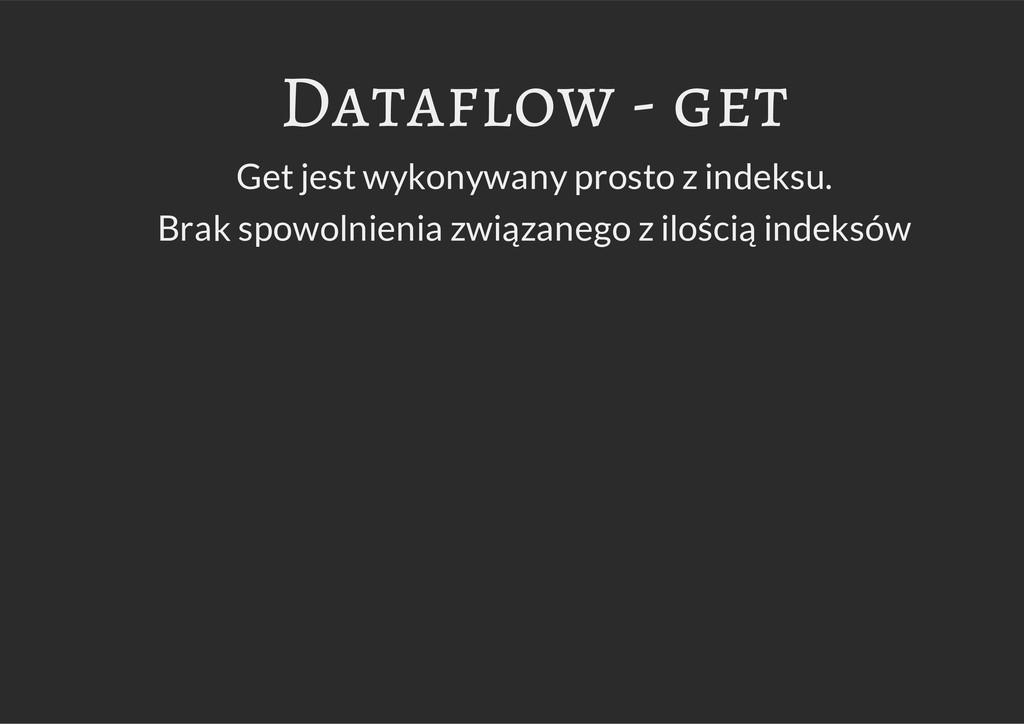 Dataflow - get Get jest wykonywany prosto z ind...