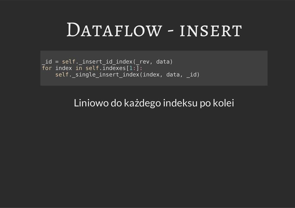 Dataflow - insert Liniowo do każdego indeksu po...