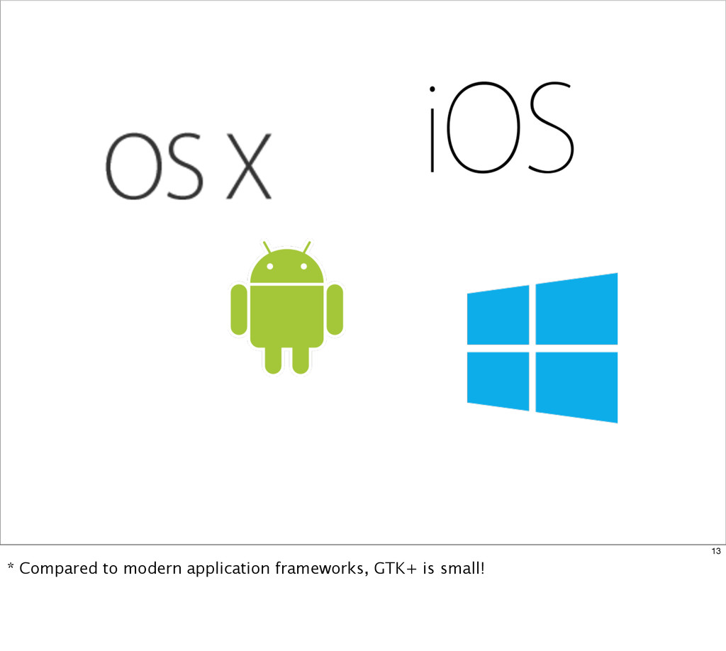 13 * Compared to modern application frameworks,...