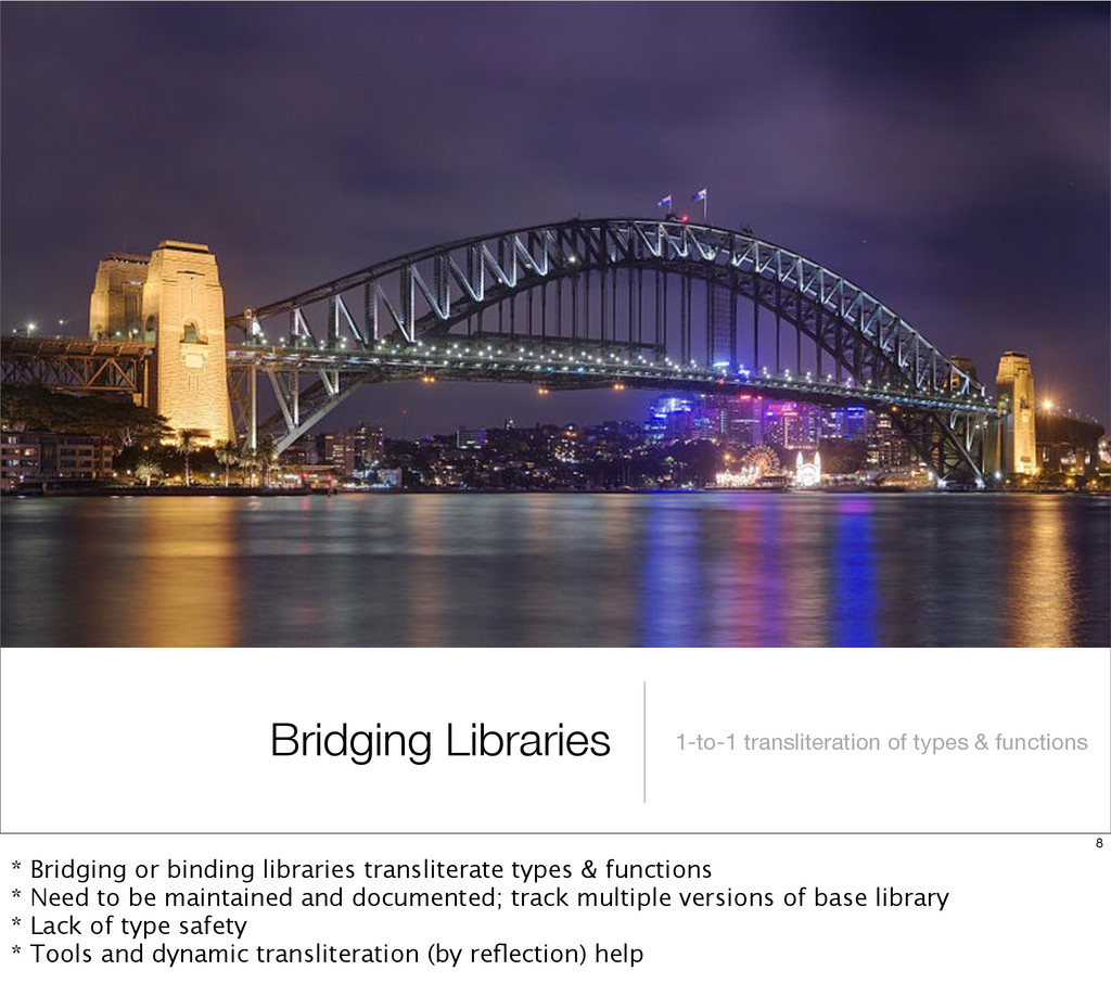 Bridging Libraries 1-to-1 transliteration of ty...