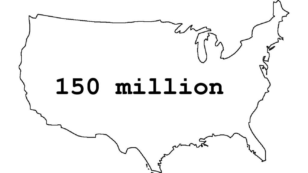 150 million