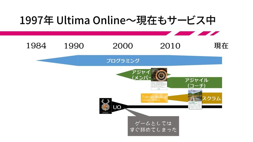 アジャイル (コーチ) 1997年 Ultima Online~現在もサービス中 アジャイル ...