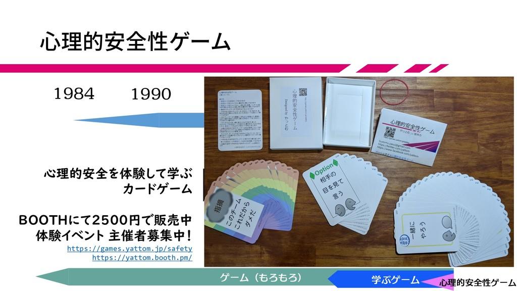 心理的安全性ゲーム 1984 現在 1990 2000 2010 アジャイル (コーチ) アジ...