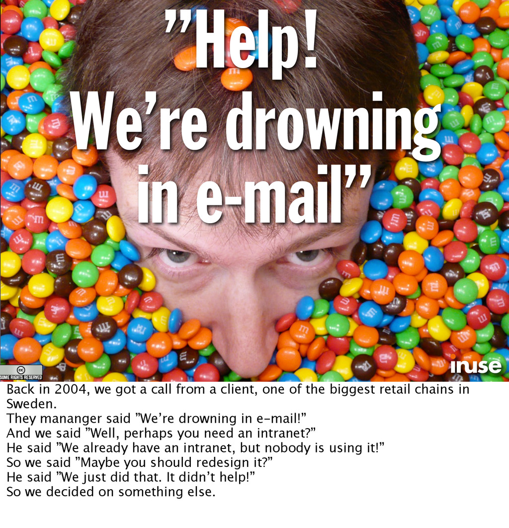 """""""Help! We're drowning in e-mail"""" Back in 2004, ..."""