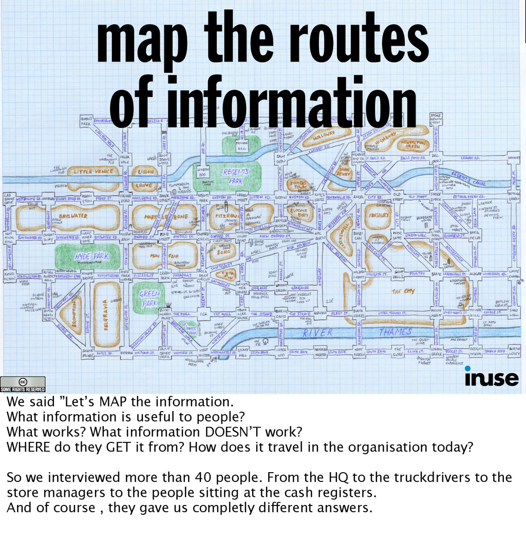 """map the routes of information We said """"Let's MA..."""