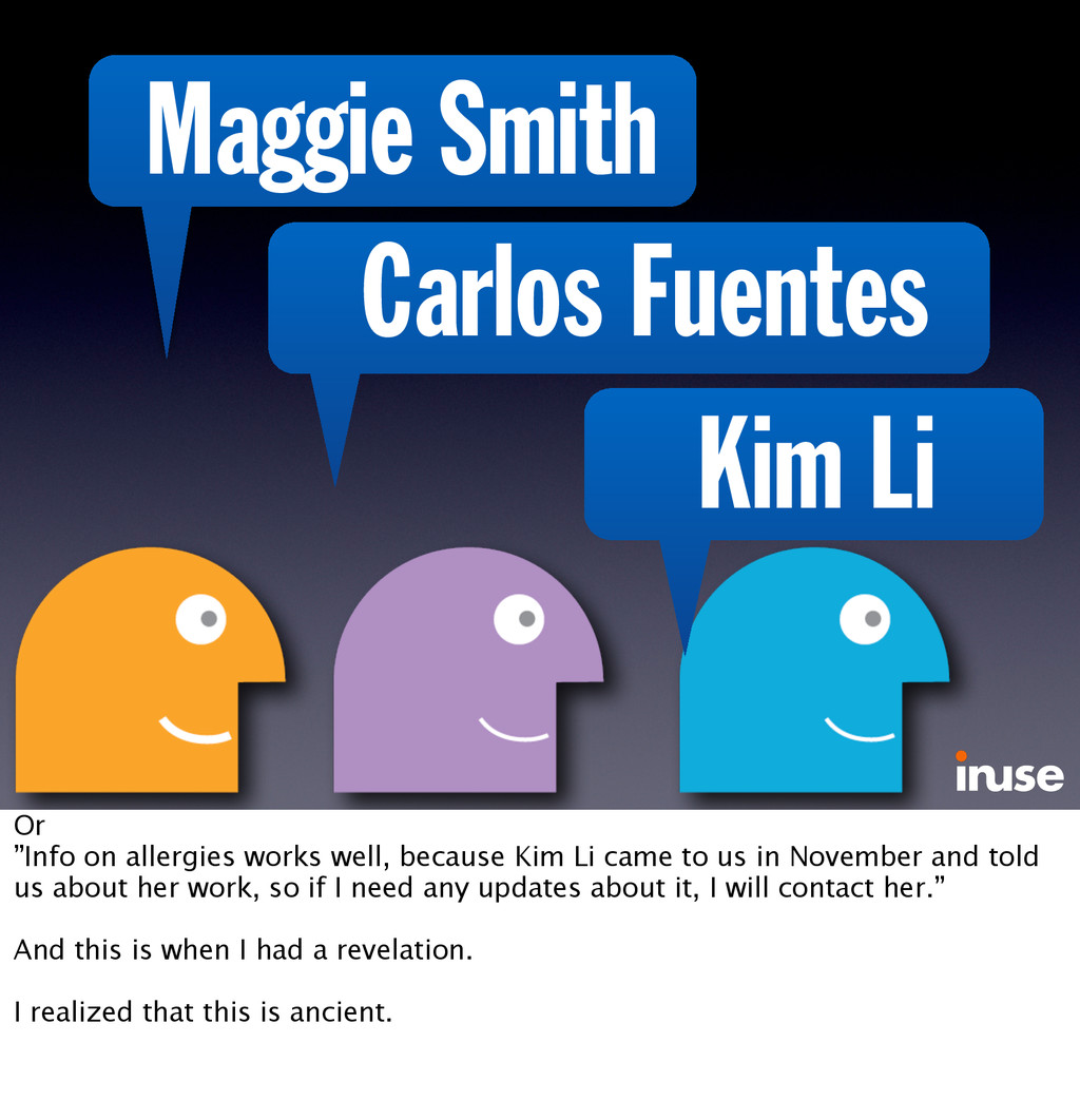 "Maggie Smith Carlos Fuentes Kim Li Or ""Info on ..."