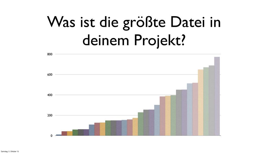 Was ist die größte Datei in deinem Projekt? 0 2...