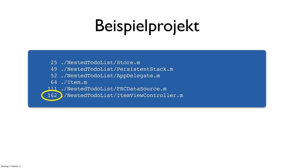 25 ./NestedTodoList/Store.m 49 ./NestedTodoList...