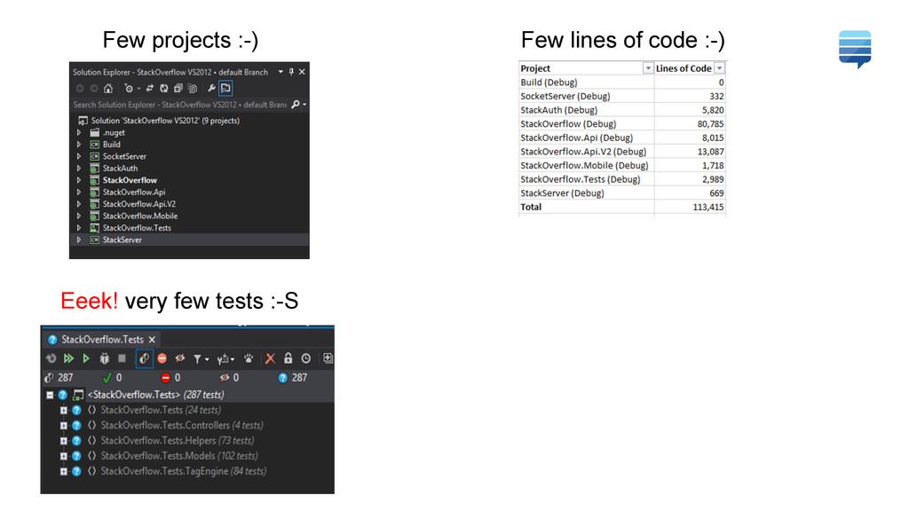 Few projects :-) Few lines of code :-) Eeek! ve...