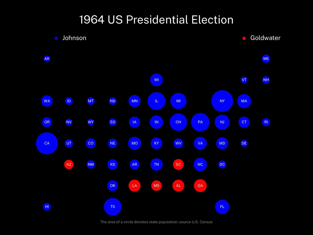 1964 US Presidential Election Johnson Goldwater...