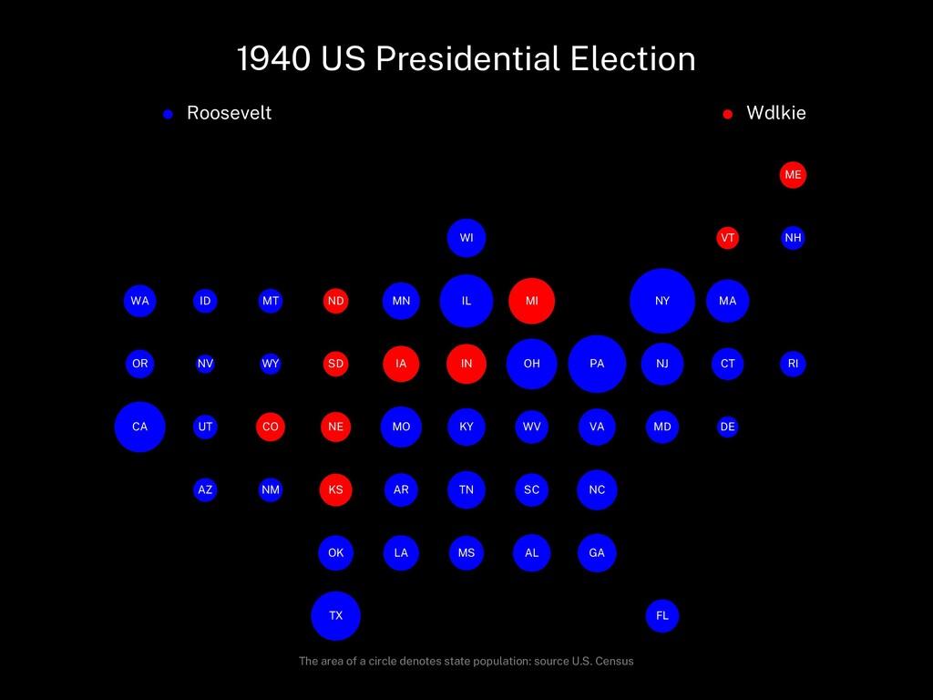 1940 US Presidential Election Roosevelt Wdlkie ...