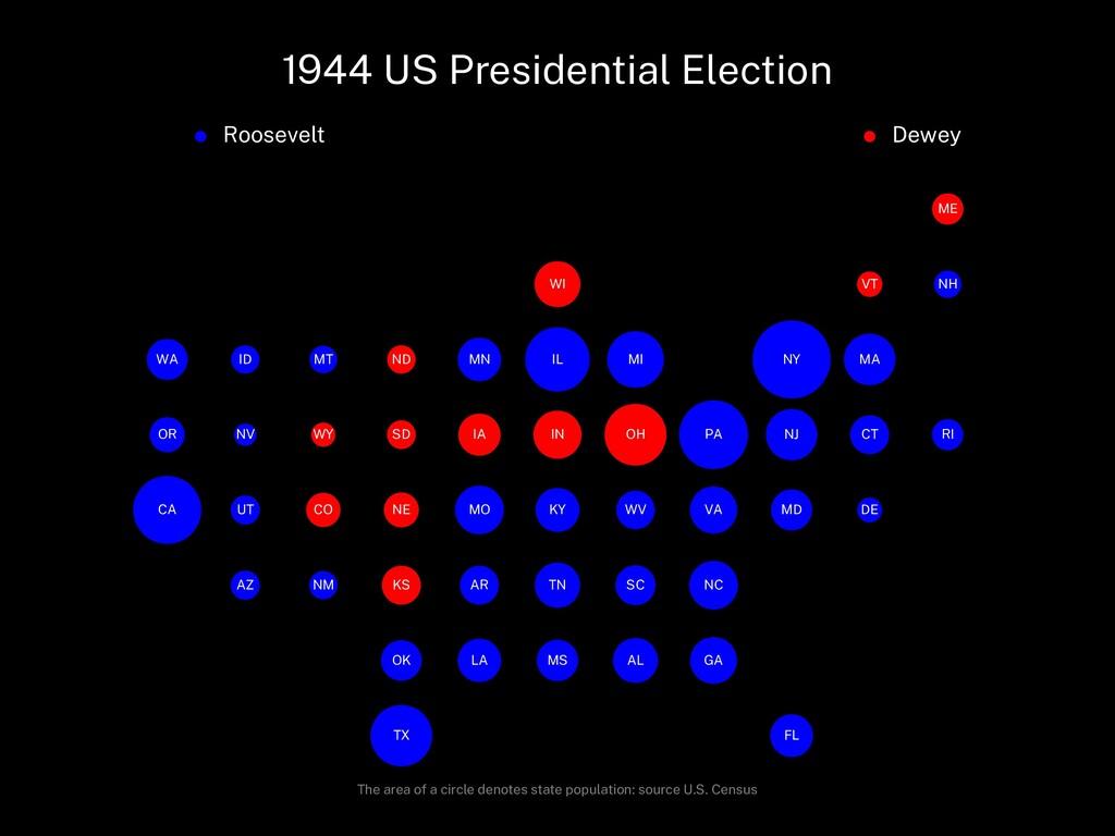 1944 US Presidential Election Roosevelt Dewey A...