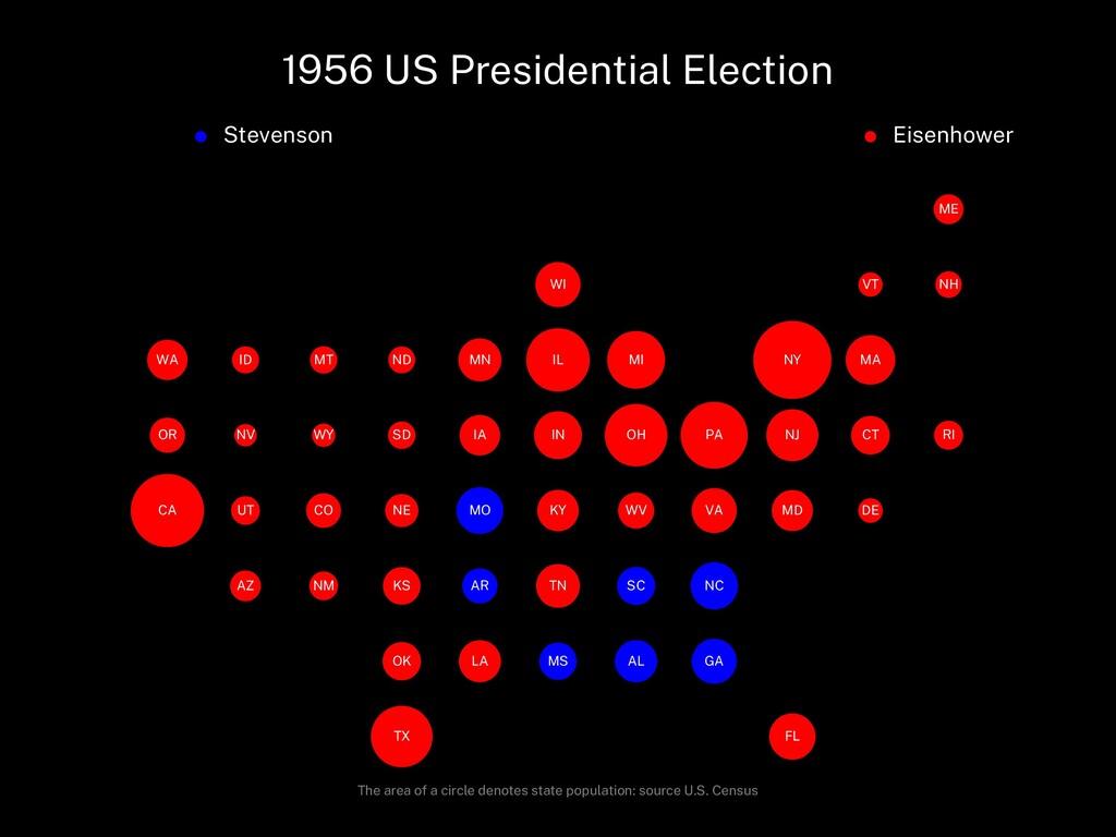 1956 US Presidential Election Stevenson Eisenho...