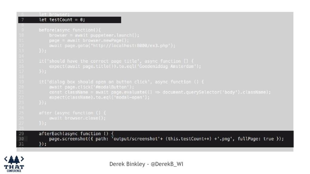 Derek Binkley - @DerekB_WI