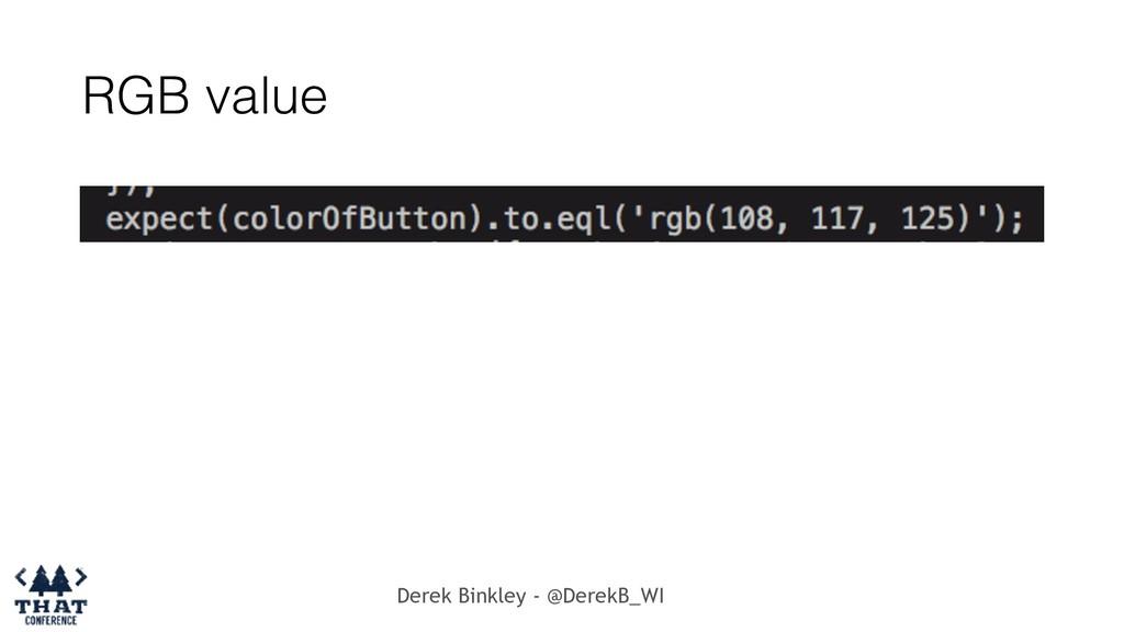 Derek Binkley - @DerekB_WI RGB value