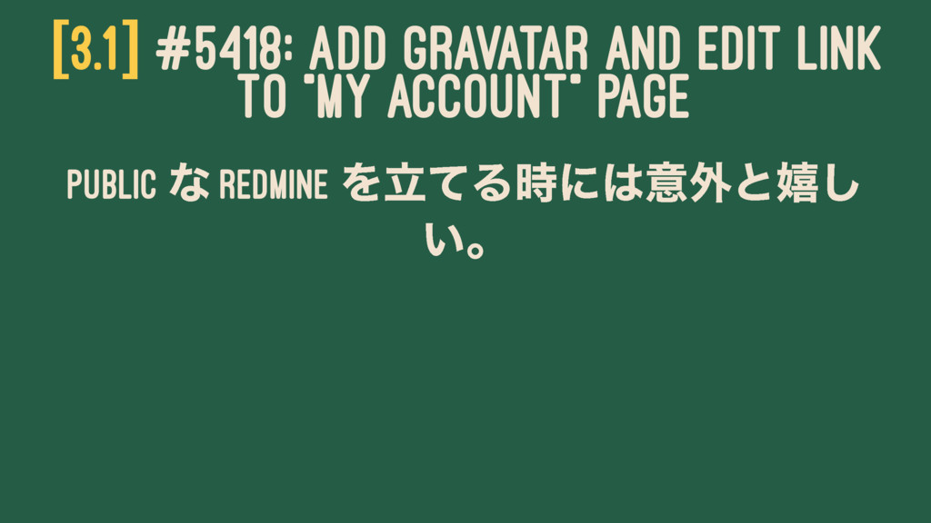 """[3.1] #5418: ADD GRAVATAR AND EDIT LINK TO """"MY ..."""