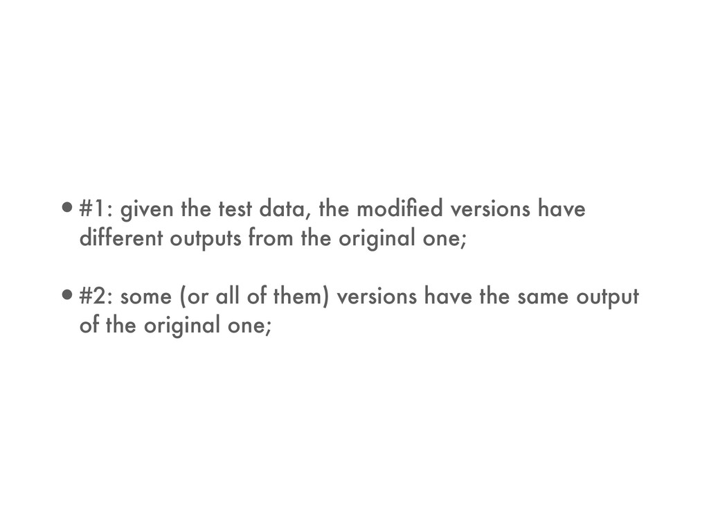 •#1: given the test data, the modified versions ...