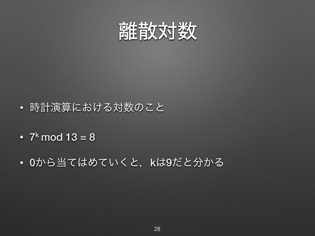 ର • ܭԋʹ͓͚Δରͷ͜ͱ • 7k mod 13 = 8 • 0͔ΒͯΊͯ...