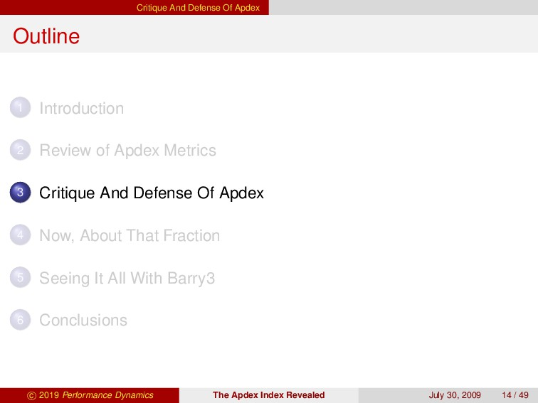 Critique And Defense Of Apdex Outline 1 Introdu...