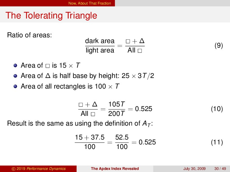 Now, About That Fraction The Tolerating Triangl...