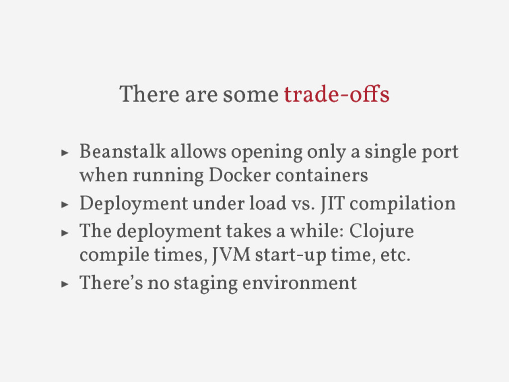 There are some trade-o s ▶ Beanstalk allows ope...