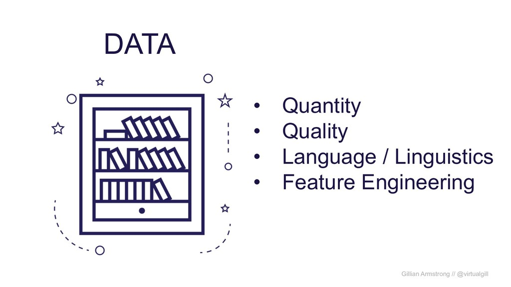 DATA • Quantity • Quality • Language / Linguist...