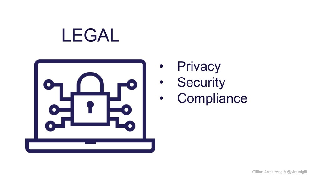 LEGAL • Privacy • Security • Compliance Gillian...