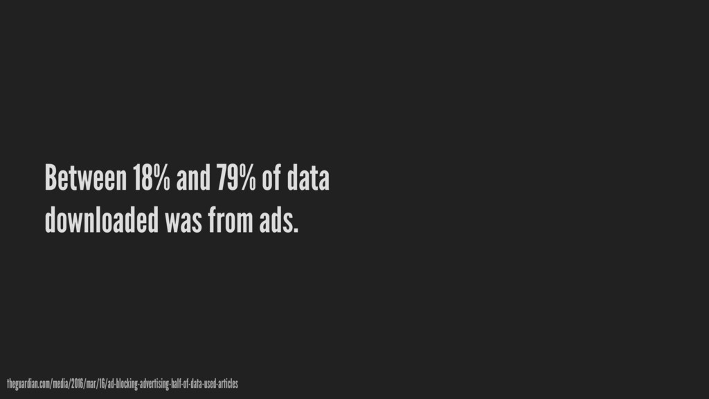 Between 18% and 79% of data downloaded was from...