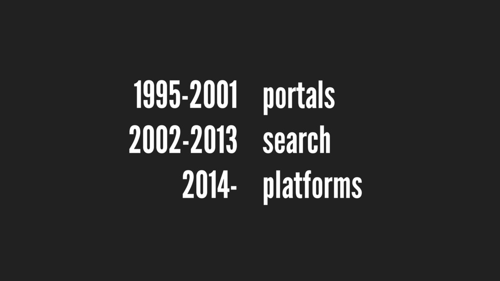 portals search platforms 1995-2001 2002-2013 20...