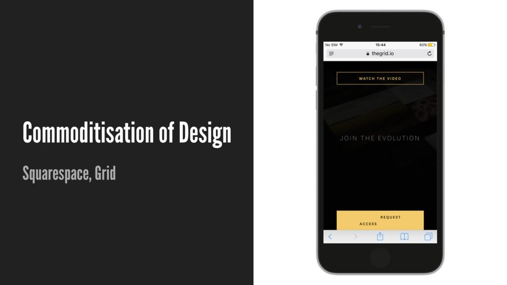 Commoditisation of Design Squarespace, Grid