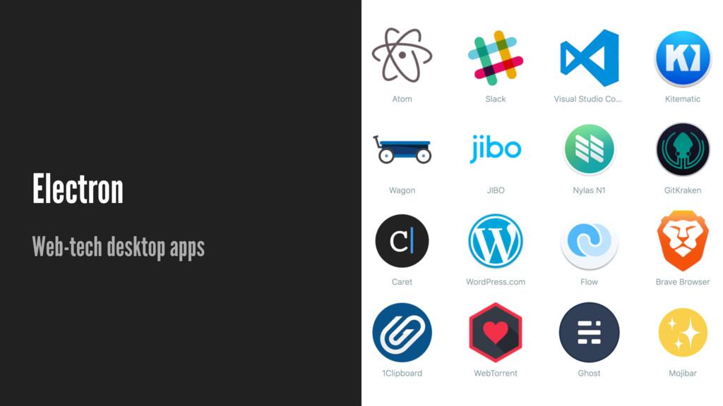 Electron Web-tech desktop apps
