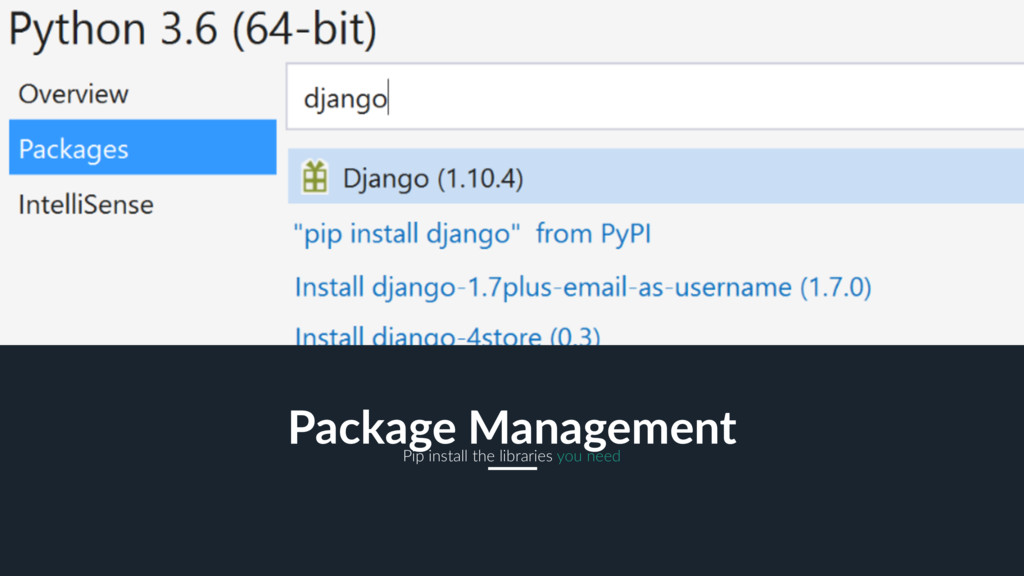12 Package Management Pip install the libraries...
