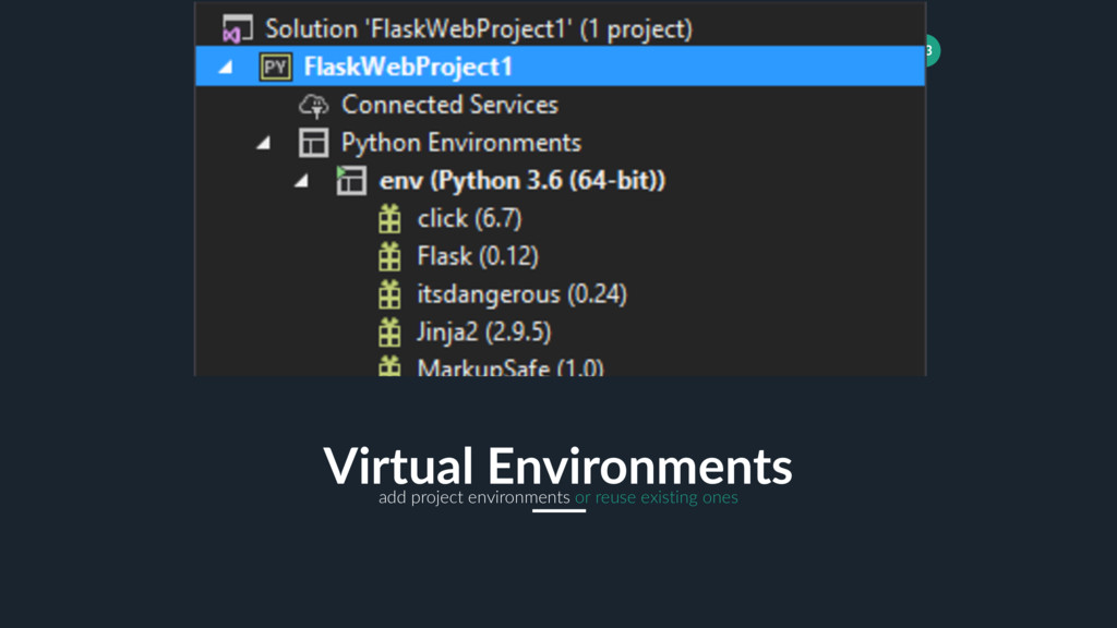13 Virtual Environments add project environment...